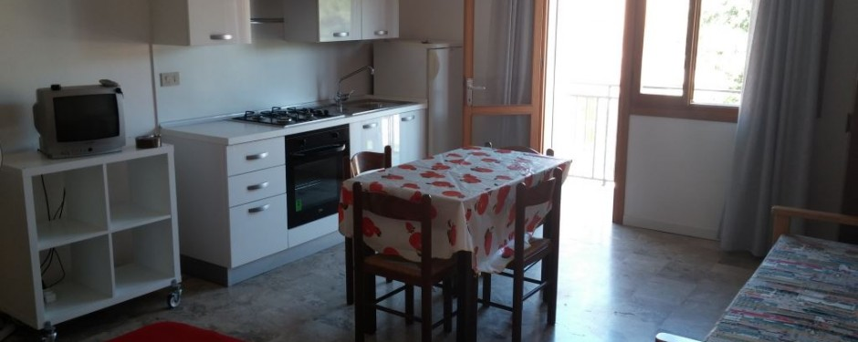 Salotto e cucina del monolocale