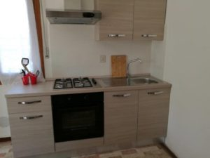 Small three-room apartment kitchen