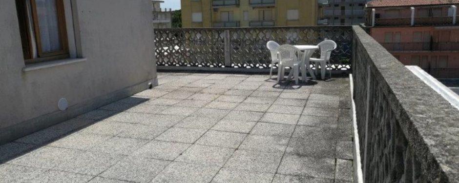Small three-room apartment terrace